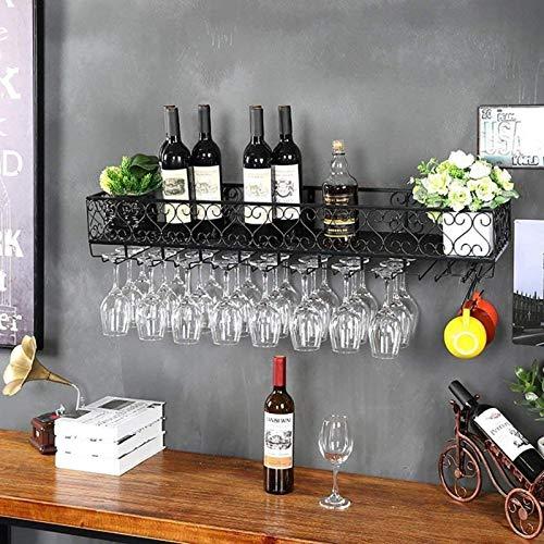 Multifunción de hierro montado en la pared estante de vino estante de pared barras de estar salas de estar hoteles restaurantes decoración estante almacenamiento Navidad