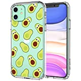 MOSNOVO iPhone 11 Case, Avocado Pattern Clear Design Transparent Plastic Hard Back Case with TPU Bumper Protective Case Cover for Apple iPhone 11 (2019)