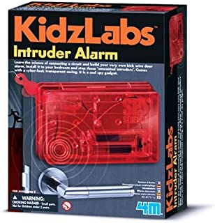 MAU Intruder Alarm Spy Kit For Ages 8+ Learn the science of circuits and build your own kick-wire door alarm with this cool spy science kit