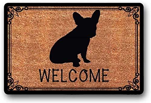 BXBCASEHOMEMAT French Bulldog - Frenchie Bull Dog - Welcome Mat - Housewarming Gift 18' x 30'