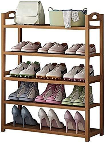 QZMX Estante de Zapatos Zapatero 3 de 6 Plantas Bastidores del Zapato, del Organizador del almacenaje Ideal for Recibidor, Sala, Cuarto de baño, Dormitorio o Pasillo Estante