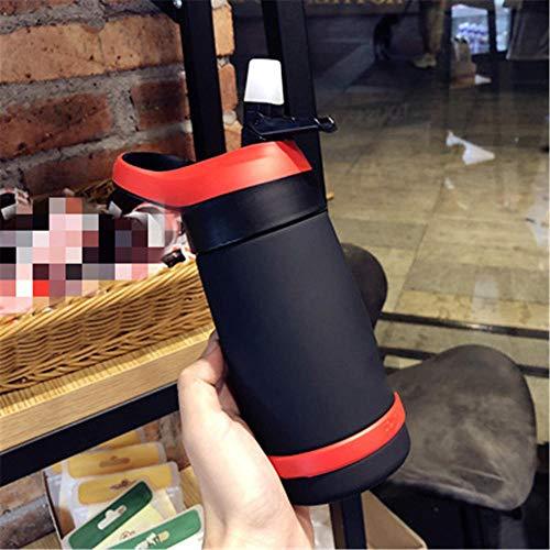 ZHIHAN Bouteille de Sport Tasse en Plastique Portable Sippy Tasse pour Hommes et Femmes, Noir, 550ml