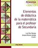 Elementos De Didáctica De La Matemática Para El Profesor De Secundaria (Psicología) - 9788436835366