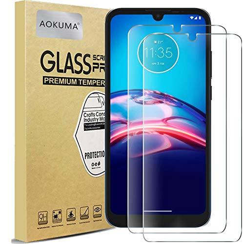 AOKUMA für Motorola Moto E6s/Moto E6 plus Panzerglas, 【2 Stücke】Glas kompatibel mit Motorola Moto E6s/Moto E6 plus Schutzfolie, Premium Glasfolie mit 9H Festigkeit, Anti Kratzer, Splitterfest,Anti-Bläschen