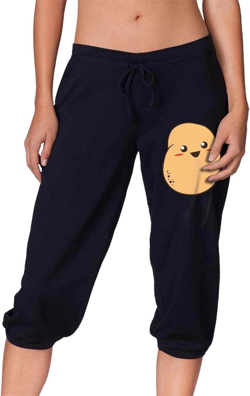 shopping FKFB3PPT Kawaii Potato Women's Pants Sports Cropped Trouse Popular standard Capri
