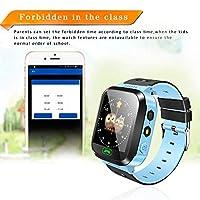 Xueliee1.44 '' GPS ロケータータッチスクリーントラッカーSOS LED懐中電灯付きスマートウォッチLBS
