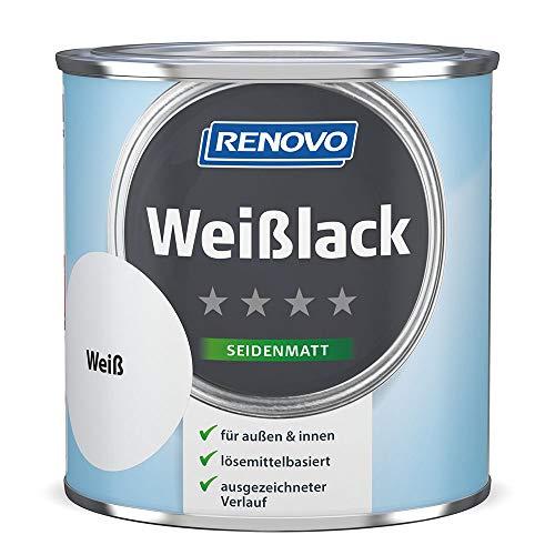 Renovo Weißlack seidenmatt weiß 375 ml für Innen & Außen