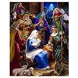 Gesh - Pintura de diamantes para manualidades, diseño de Jesús, Cristo, nacimiento, Navidad, decoración de Navidad
