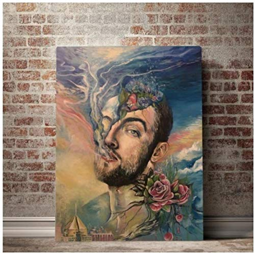 Kongzir R.I.P. Mac Miller Rapper Music Star Poster Canvas Paintings Wall Art Picture Posters and Prints for Living Room Decoration -50X70Cmx1Pcs -No Frame