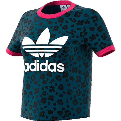 adidas AOP Tee, T-Shirts Donna, Tech Mineral/Black, 46