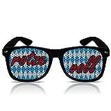 mygafas Partybrille Spassbrille Partygag Partyzubehör Sonnenbrille mit Motiv Rotze Voll weiß blau Bayern Farben (Nerd schwarz)