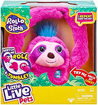 Little Live Pets Rollo The Sloth Toy with Bendable Arms, Movement, & Sounds