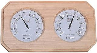 Ritapreaty Termómetro e higrómetro para Sauna - Madera, medidor de Monitor de Humedad doblemente preciso Accesorio para Sa...