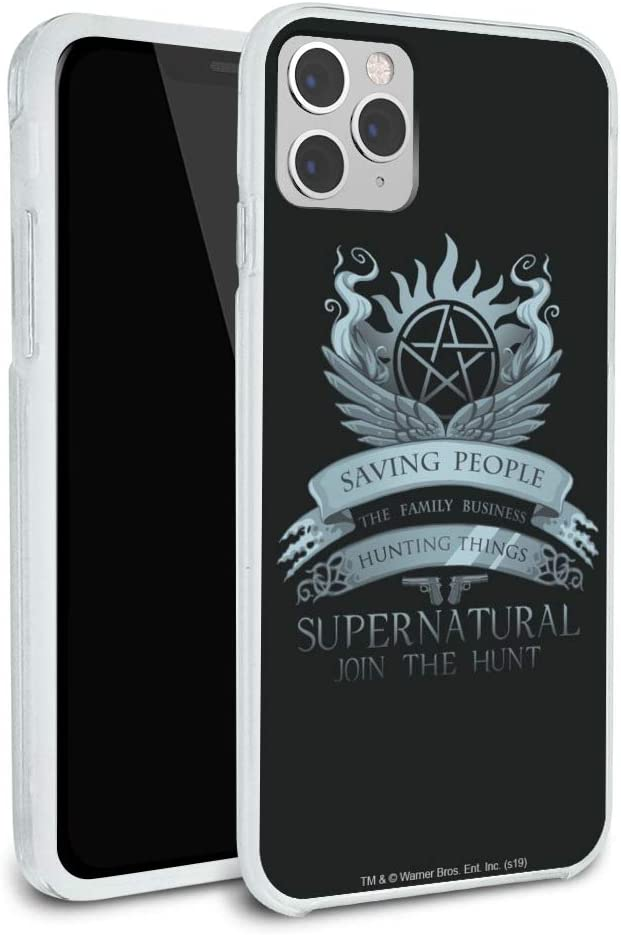 Supernatural Saving People Hunting Things Protective Slim Fit Hybrid Rubber Bumper Case Fits Apple iPhone 8, 8 Plus, X, 11, 11 Pro,11 Pro Max
