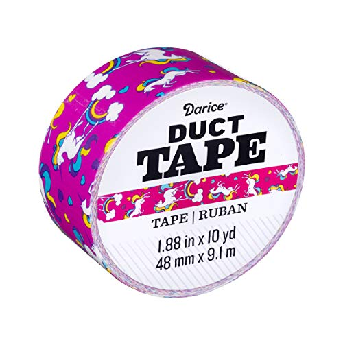 Darice Roll: Unicorns, 1.88 Inches x 10 Yards Duct Tape, Multicolor