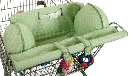 Leachco Prop 'R Shopper Shopping Cart Cover, Green Pin Dot