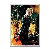 ADNHWAN Tom Felton Draco Malfoy Poster HP7 Film Wandkunst