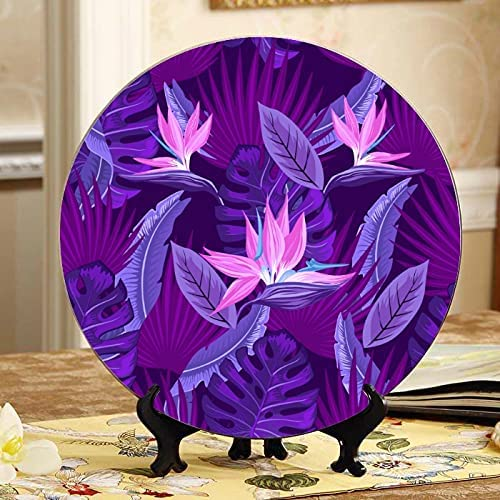 ALALAL Spring Romantic Sweet Flower Decorate Plate Bargain Superior Colorfu Lilac