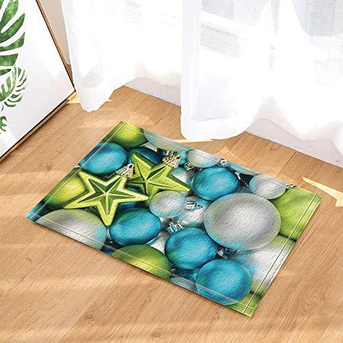 NNAYD1996 Decoración navideña de Colores de Bolas de Navidad Joyas de Cinco Estrellas Impresión 3D, Accesorios de baño, Puerta de Entrada, Puerta de atrás, Cocina, Sala de Estar, baño