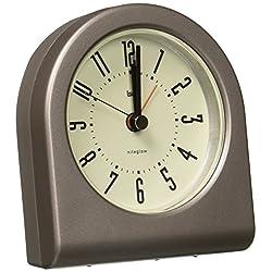 BAI Designer Pick-Me-Up Alarm Clock, Cyber Gunmetal