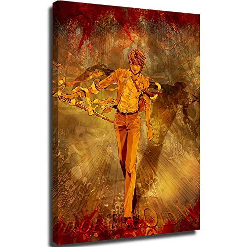 Tableros de lienzo para pintar lienzo pintura mural de pared Nota de la Muerte Nia Yagami Luz marco de lona 20,3 x 30,5 cm