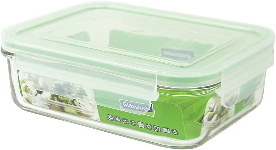 GLASS LOCK 1000ml Rectangular Food Container, 1 EA