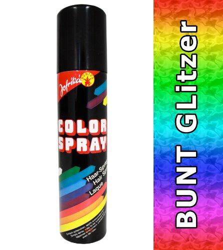NET TOYS Spray à Paillettes Multicolore - Spray Multicolore pour Les Cheveux - Spray Cheveux - colorspray - Coloration du cheveu - Sprays pour Les Cheveux - colorsprays - colorations des Cheveux