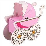 monbedos 50Candy Box Baby Warenkorb Geschenk Papier Box Keks 'Kiste Deko behandelt Boxen für Kinder Geburtstag Baby Dusche Gäste Hochzeit Party Supplies rose