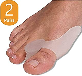 2 Pairs Soft Gel Bunion Correctors, Big Toe Bunion Guard, Diabetic Foot Care for Pain Relief from Crooked Toes and Hallux Bunions