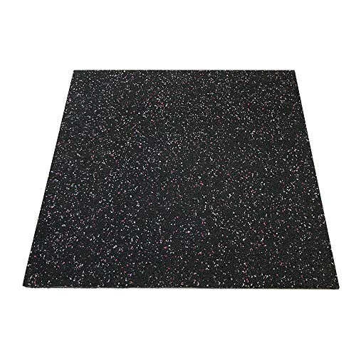 """RevTime Anti-Vibration Mats, 28"""" x 28"""", 5/8"""" (15 mm) Thick Rubber Mats, Anti-Walk, Anti-Move, Anti-Noise for Washer, Dryer, Audio Equipment, Strength Training Equipment Mat (Pack of 2)"""