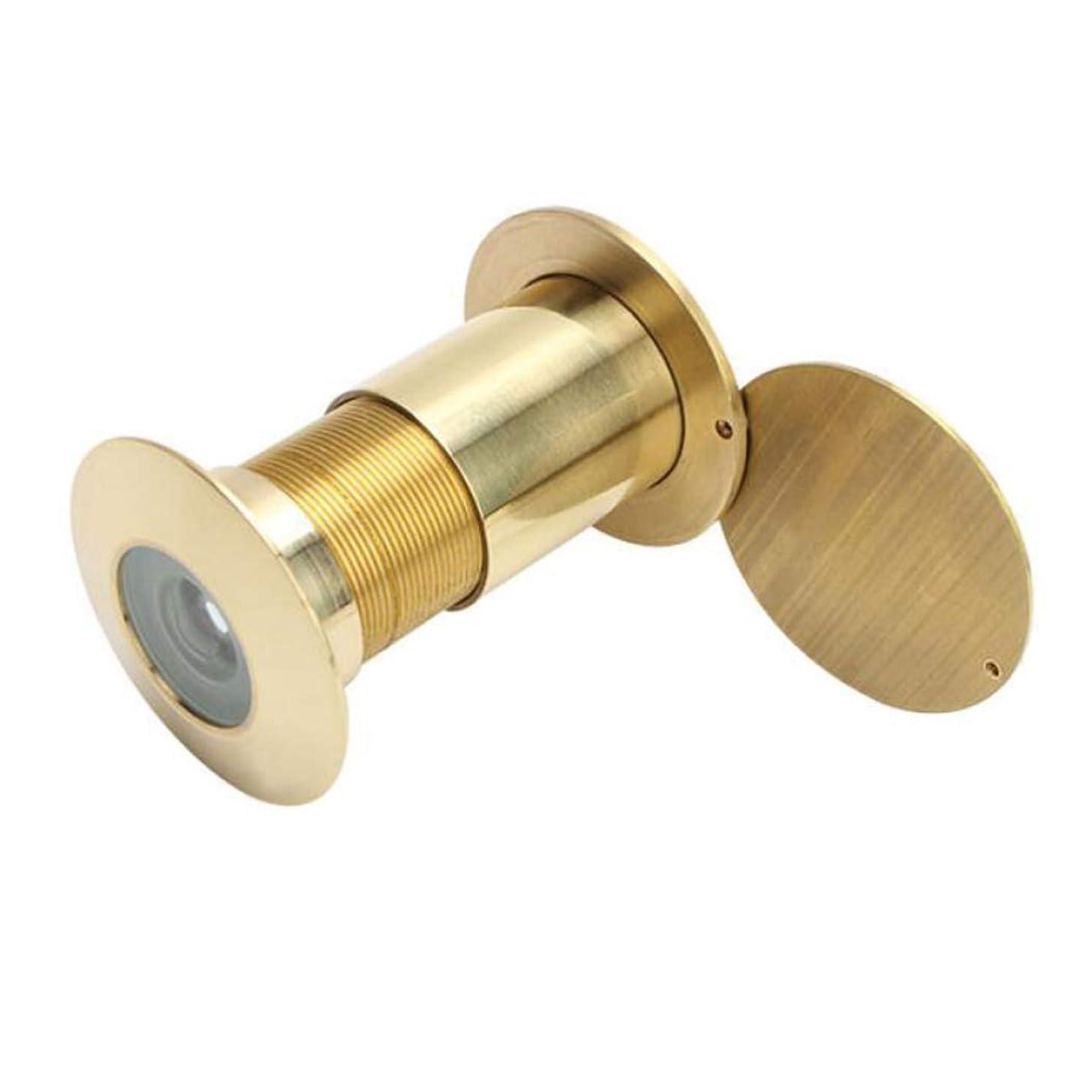 上陸ニンニクバッジHSBAIS 真鍮 のぞき穴のぞき穴、200の度広角ビューア、プライバシーのカバー付きのドアの穴,A6
