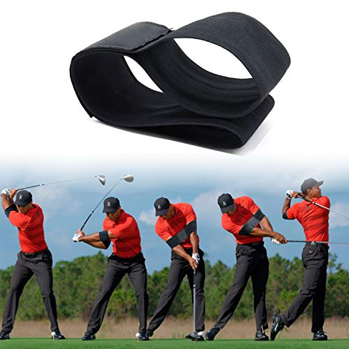 prowithlin Golf Training Aids, Golf Smooth Swing Training Aid Arm Band Golf Beginners' Training Arm Band(Black)