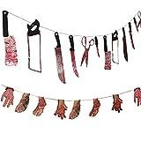 dancepandas Horror Halloween Plastica coltelli insanguinate Mani e Piedi Strumenti di Tortura Orrore Props Puntelli per Bar Haunted House Decorazione