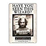 Letrero de metal de WTF Sirius Black Wanted de Azkaban Potter, letrero de lata, 7.8 x 11.8 pulgadas