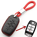 TMAAORS Leder 4-Tasten Keyless Entry Smart Key Hülle Abdeckung, für Kia Sorento/Rio / Rio5 / Optima L100