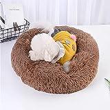 Casa de Gato Redondo Casa Suave Cesta de Peluche Larga Mascota Bolsa de Dormir Puppy Cat Cojín Matería Suministros Portátiles Mejor Cama for Perros for Perros (Color : 2, tamaño : 50cm)