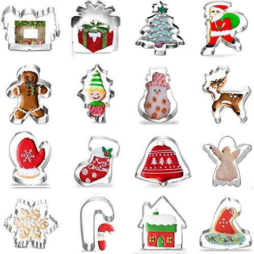 Formine per Biscotti,Formine Biscotti Natalizi Set Acciaio Inox Stampi Biscotti,per Bambini DIY Decorazioni Dolci Biscotti Dolci Decorazioni Dolci Pasta Zucchero Festa Natale