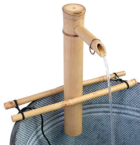 Bamboo Accents Wasserbrunnen und Pumpe, verstellbare Stütze Medium