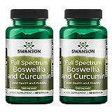 Swanson Full Spectrum Boswellia and Curcumin   60 Kapseln pro Dose   Kurkuma Curcuma Gelenke...