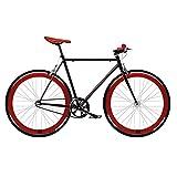 Mowheel bicicleta fix 2 roja. Monomarcha fixie/single speed. Talla 53