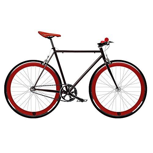 Bicicleta FIX 2 roja. Monomarcha fixie / single speed. Talla 53