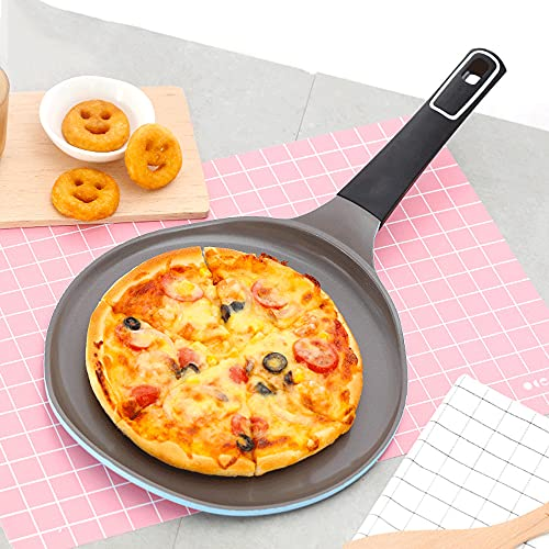 zhaohupinpai Sartén para panqueques, bistec, huevo frito, panqueque, sartén especial para el desayuno, conducción de calor rápida, resistencia a altas temperaturas, sartén antiadherente, sin humo acei