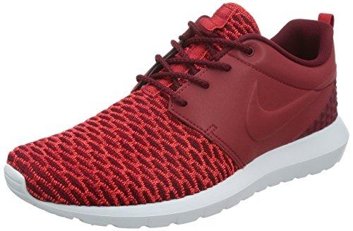 Nike Roshe NM Flyknit PRM, Zapatillas de Running Hombre, Rojo/Blanco (Gym Rd/Gym Rd-TM Rd-Brght Crms), 40 1/2