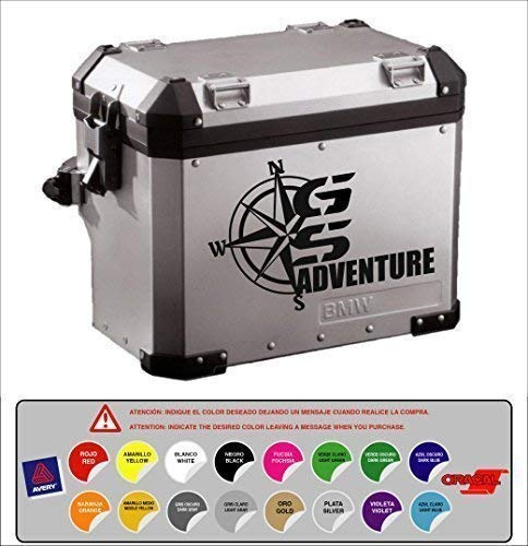 Aufkleber Aufkleber Koffer Kompatibel mit GS Aventure Windrose R 1200 1150 1100 800 Dakar Vogelmalerei 16 Farben Verfügbar Kit 2 Einheiten