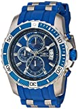 Invicta Men's Pro Diver Stainless Steel Quartz Watch with Polyurethane Strap, Blue, 25 (Model: 22429)