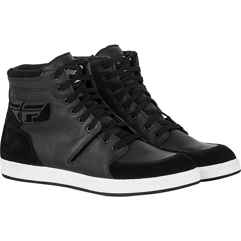 Fly Street F16 Waterproof Mens Motorcycle Riding Shoes - Black - 11