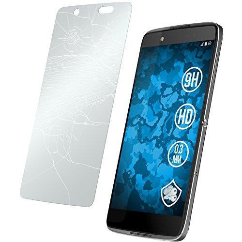 PhoneNatic 2 x Glas-Folie klar kompatibel mit Alcatel Idol 4 - Panzerglas für Idol 4