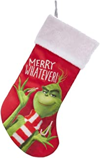Kurt Adler Dr. Seuss' The Grinch Merry Whatever Christmas Stocking,19-inch Tall