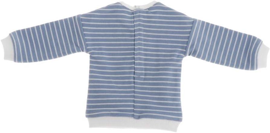 Toygogo V/êtements de Poup/ée Sweat-Shirt de Poup/ée Tenues de Poup/ées Doll Clothes pour 1//6 Blythe BJD Pull de Poup/ée /à Rayures Bleu