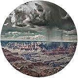 W-WEE Alfombra Redonda, Alfombra, decoración de Granja, cúmulos en el Valle del Gran Cañón con Vigas nebulosas, Imagen idílica de la Naturaleza, ceja Blanca